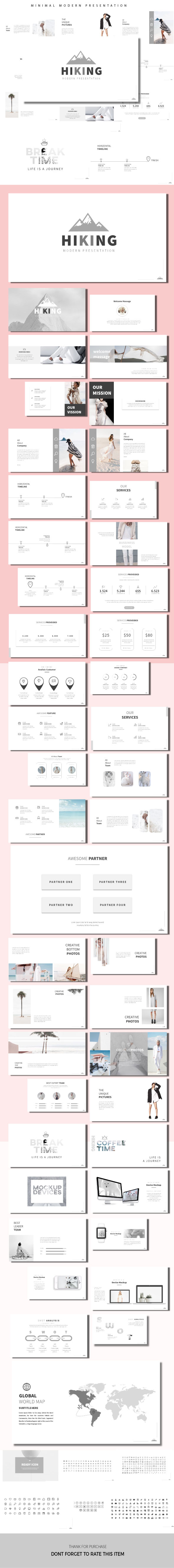 Hiking - Minimal Presentation Templates - PowerPoint Templates Presentation Templates
