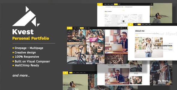 Image of Kvest - Creative Responsive Personal Portfolio WordPress Theme