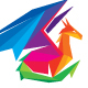 Dragon Colorful Polygon Logo