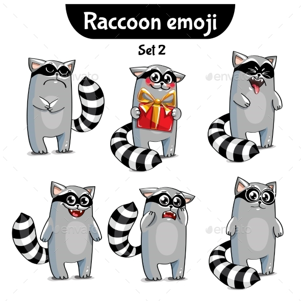 Raccoon Characters Set 2 - Animals Characters