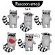 Raccoon Characters Set 4