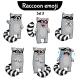 Vector Set of Raccoon Characters. Set 4