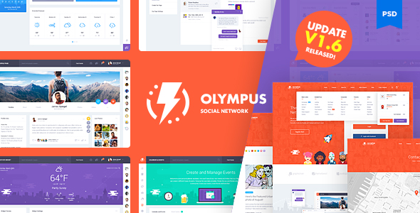 Olympus social network psd template v1 6 by odin design for Social network profile template