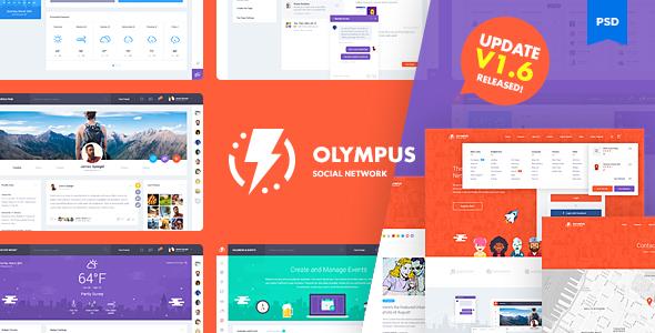 Olympus social network psd template v1 6 by odin design for Social network profile template