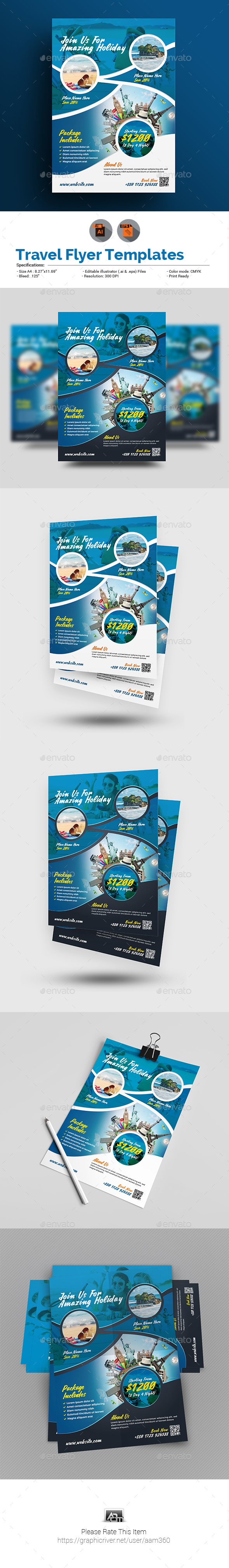 GraphicRiver Travel Flyer 20742991