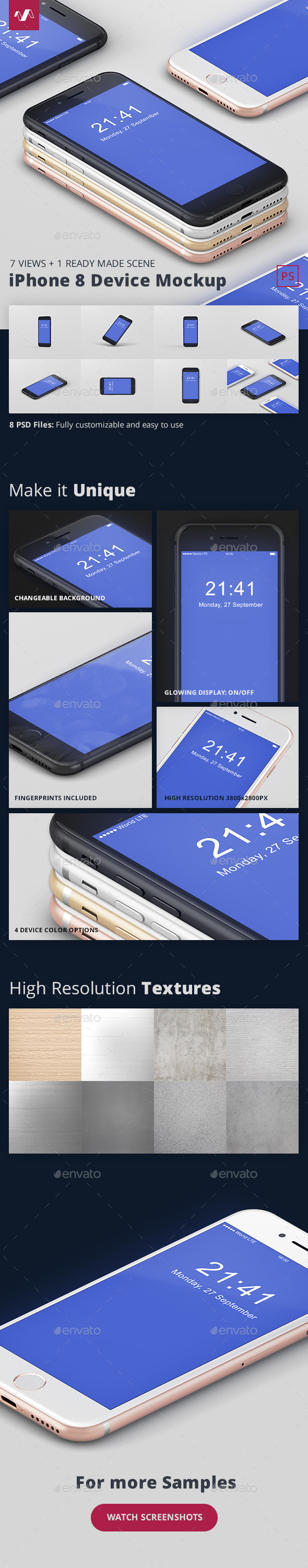 Phone 8 Mockup - Mobile Displays