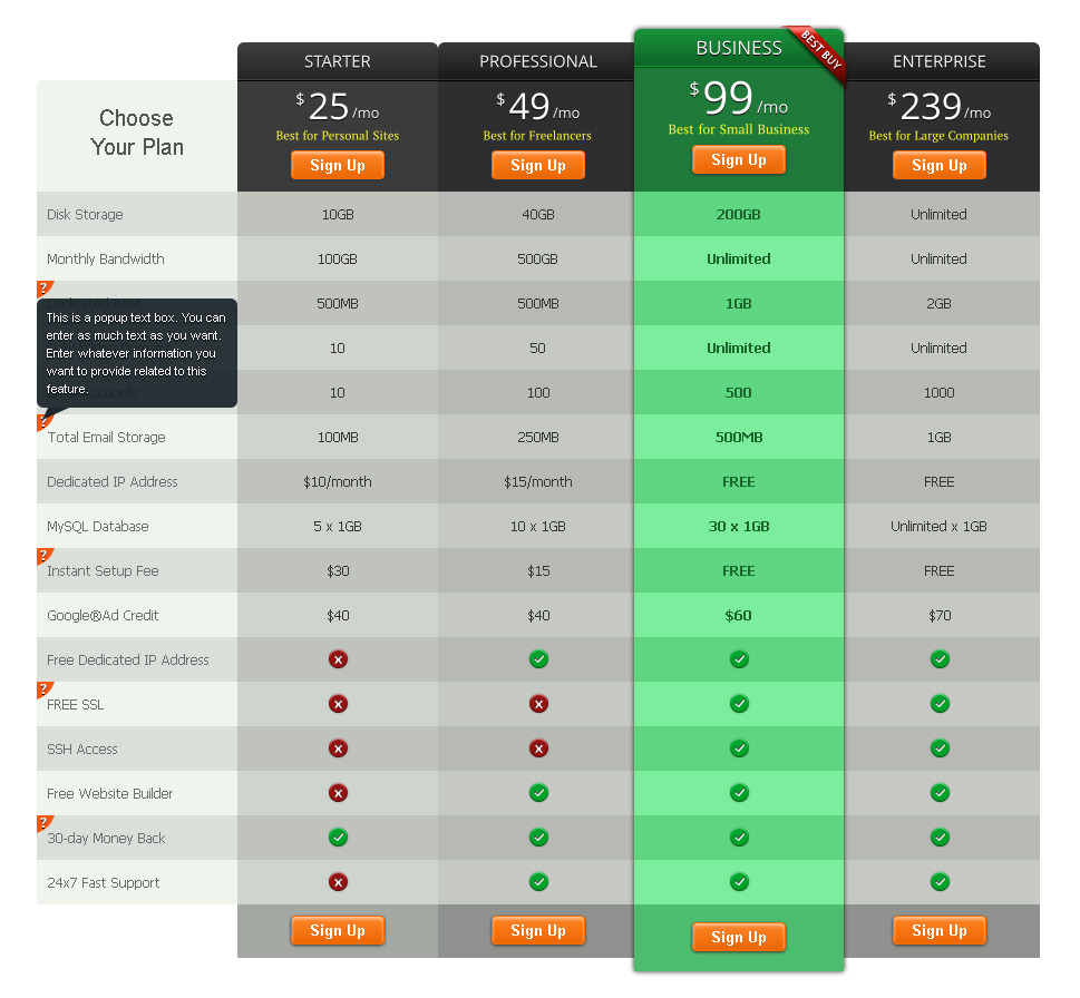 CSS3 Mega Pricing Tables Pack by EmeraldArt   CodeCanyon