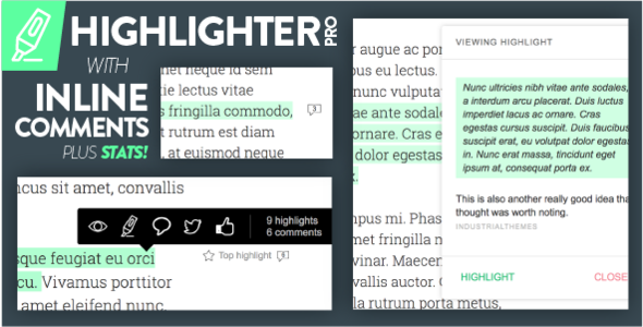 CodeCanyon Highlighter Pro A Medium.com-Inspired Text Highlighting and Inline Commenting Tool for WordPress 20743682