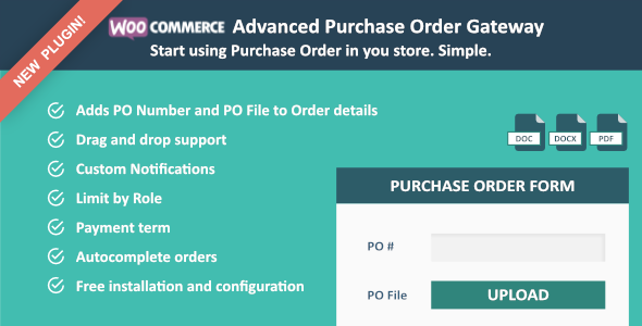 WooCommerce Advanced Purchase Order Gateway - CodeCanyon Item for Sale