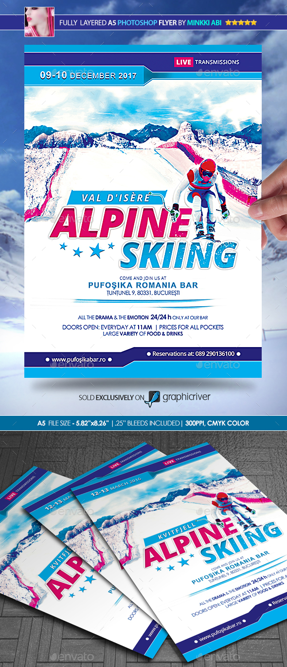 Alpine Skiing Poster/Flyer - Sports Events