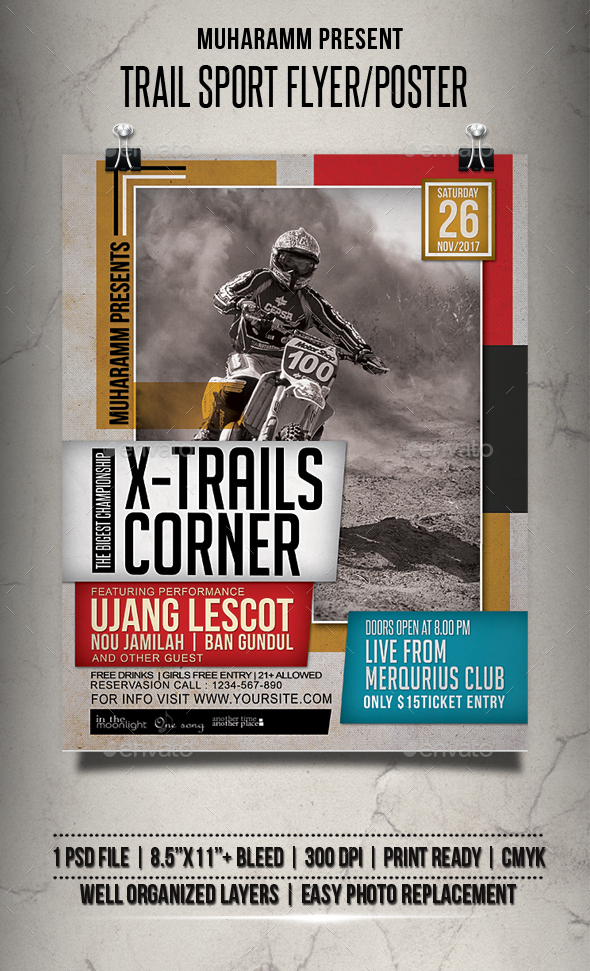 GraphicRiver Trail Sport Flyer Poster 20743843