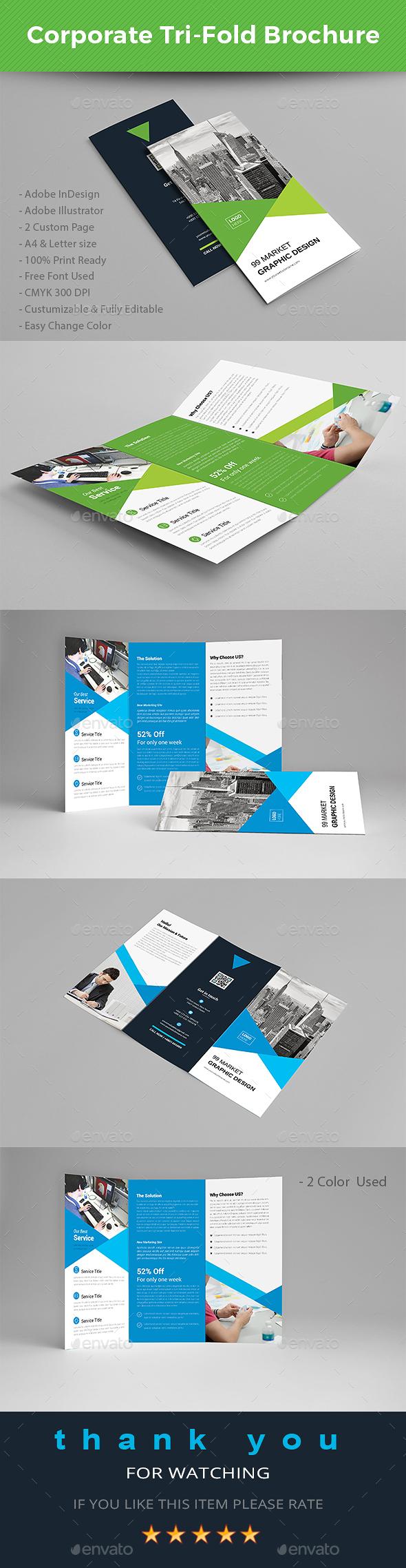 Tri fold Brochure - Brochures Print Templates