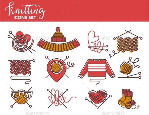 Knitting - Miscellaneous Vectors