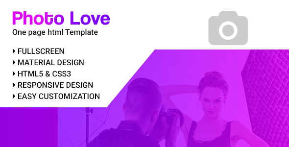 PhotoLove || Photography Portfolio Template - Photography Creative