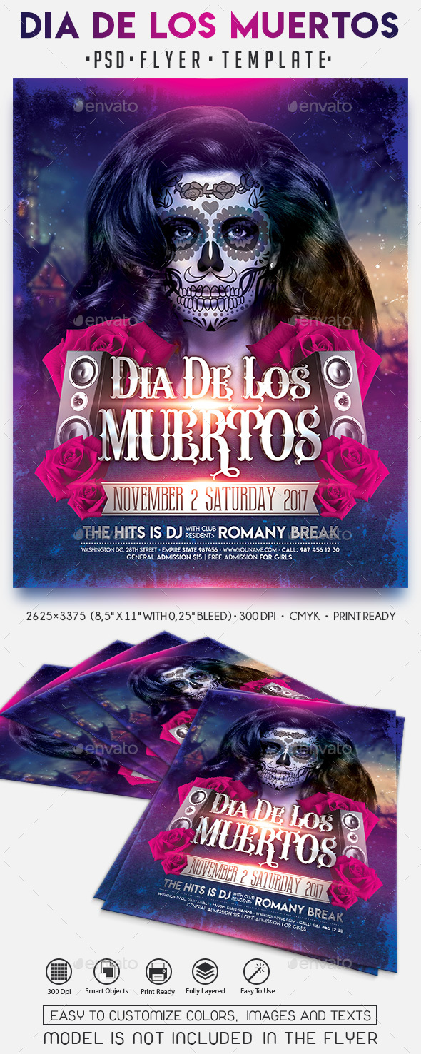 GraphicRiver Dia De Los Muertos 20734105