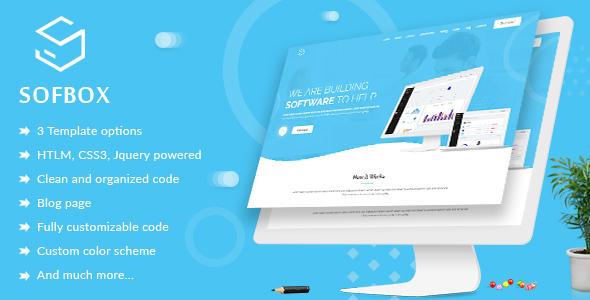 Image of Sofbox - Software Landing Page