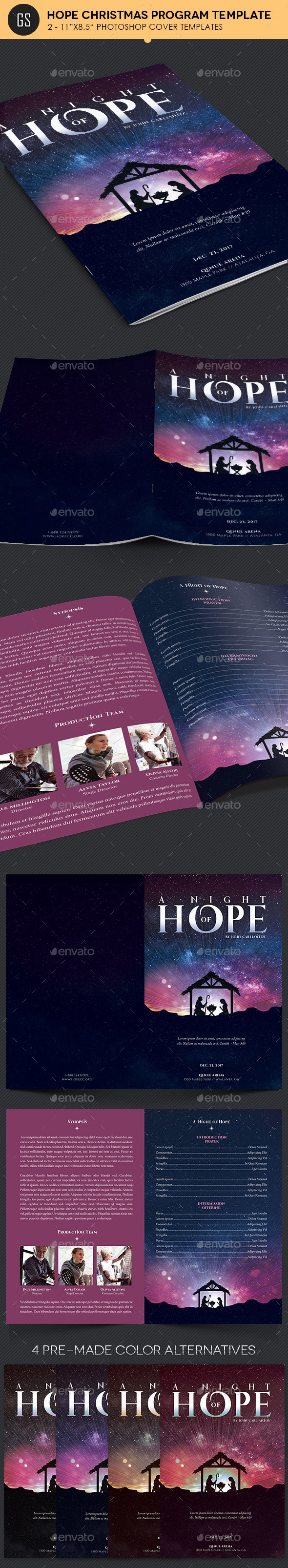 Hope Christmas Program Template - Informational Brochures