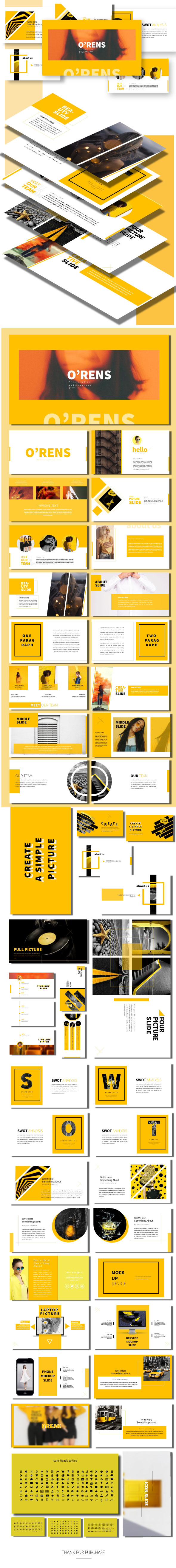 O'rens - Presentation Templates - Business PowerPoint Templates