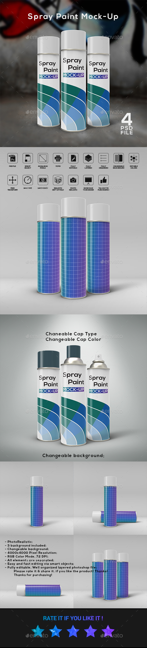 Spray Paint Mock-Up - Miscellaneous Packaging
