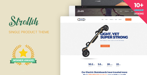 Strollik - Single Product WooCommerce WordPress Theme - WooCommerce eCommerce