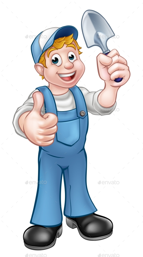 Cartoon Gardener - People Characters