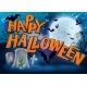 Happy Halloween Cartoon Sign