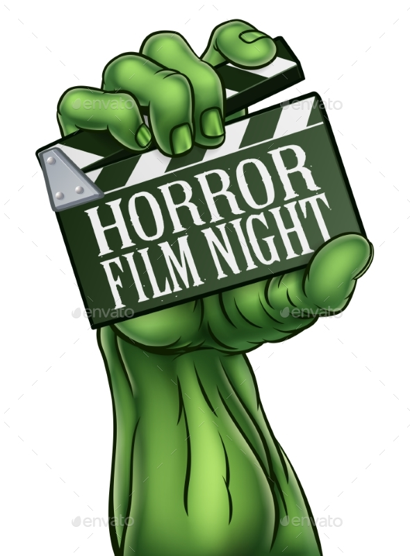 Horror Film Night Zombie Monster Clapper Board - Halloween Seasons/Holidays