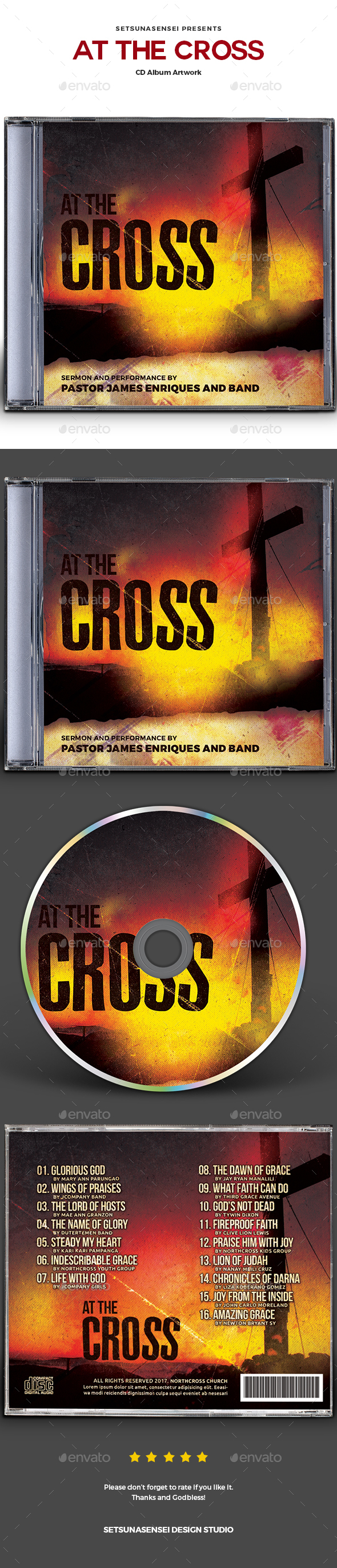 At the Cross CD Album Artwork - CD & DVD Artwork Print Templates