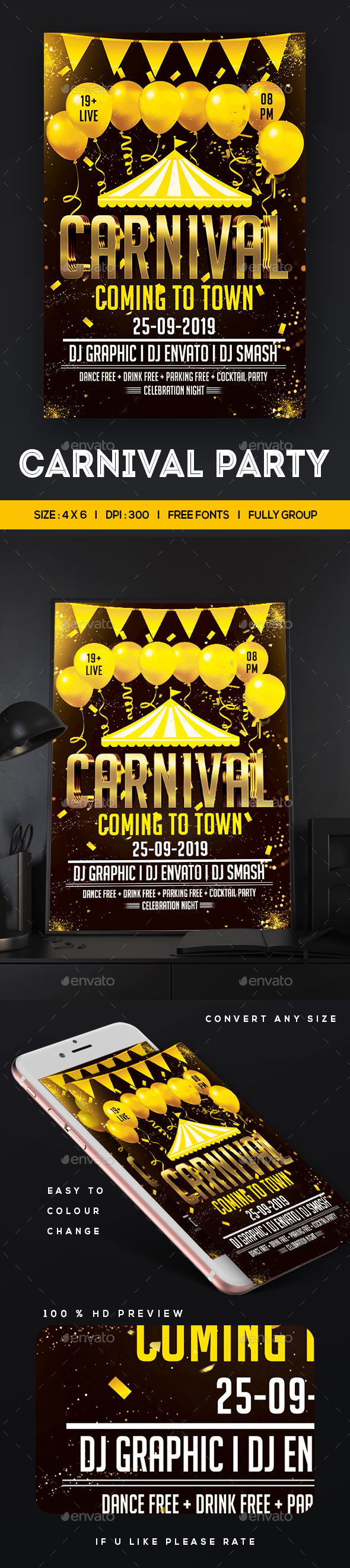 GraphicRiver Carnival Flyer 20744467