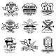 Vintage Barbershop Vector Emblems and Labels