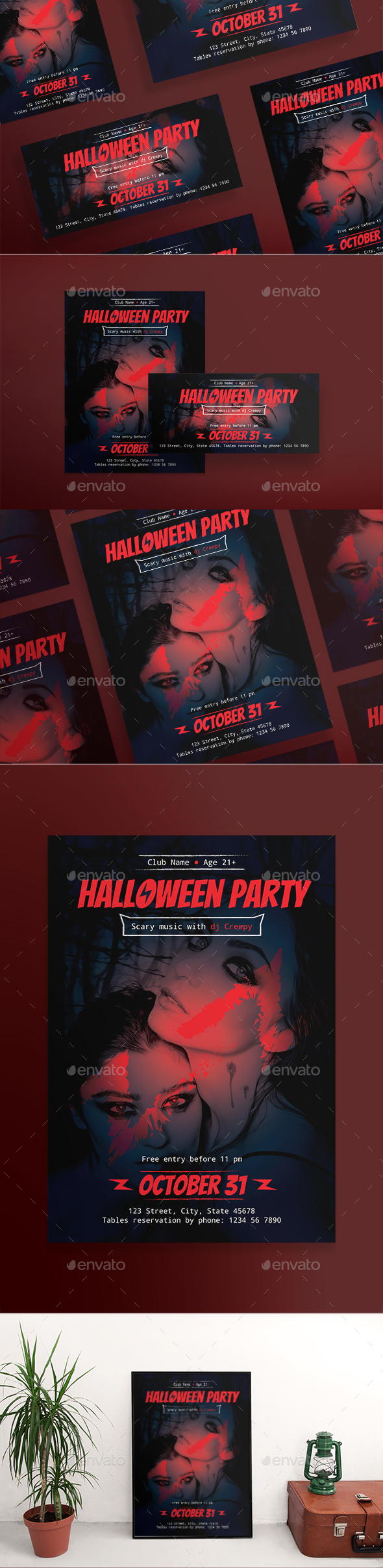 Halloween Party Flyers - Clubs & Parties Events