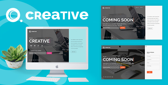 ThemeForest Creative Coming Soon Template 20612601