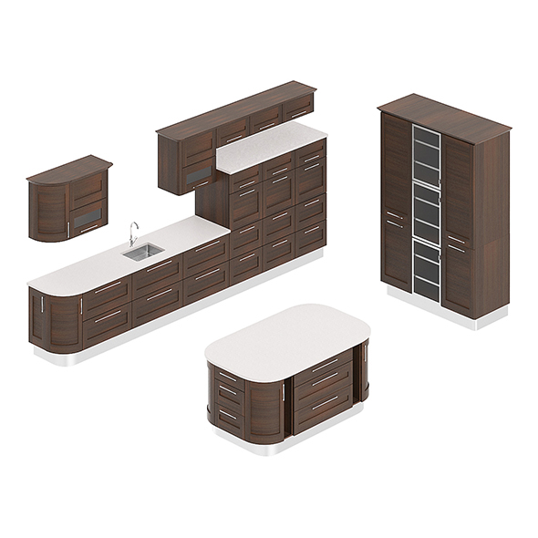 3DOcean Kitchen Furniture Set 1 20744598