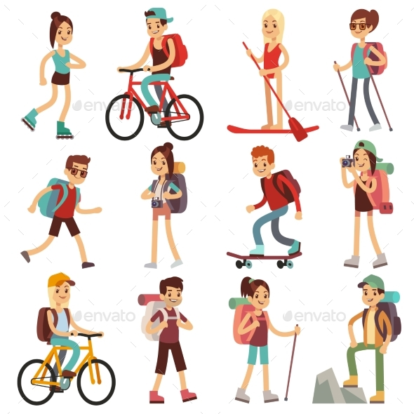GraphicRiver Travel People Hiking Outdoor Actives 20744622