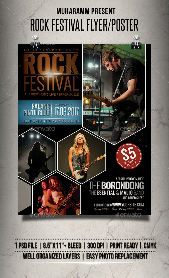 Rock Festival Flyer / Poster - Events Flyers
