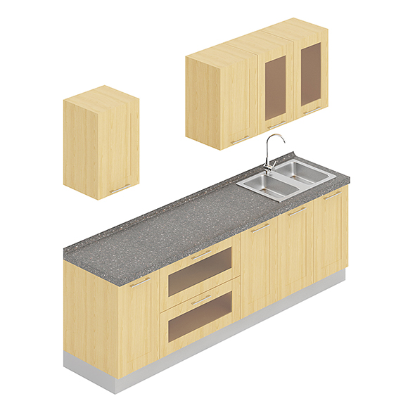 Kitchen Furniture Set 2 - 3DOcean Item for Sale