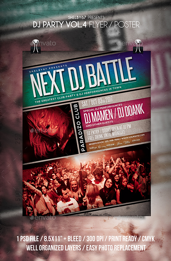 DJ Party Flyer / Poster Vol 4 - Clubs & Parties Events