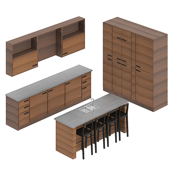 Kitchen Furniture Set 3 - 3DOcean Item for Sale