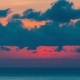 Beautiful  Sunrise on the Background Sea and Clouds