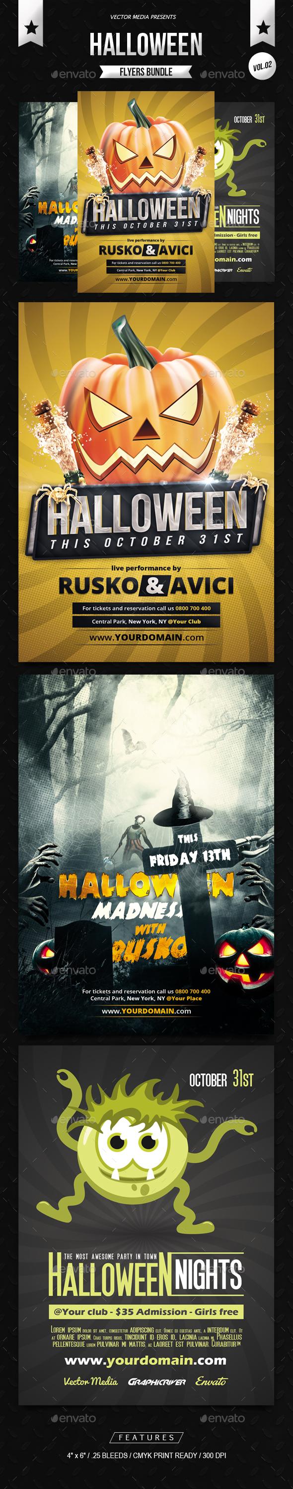 Halloween - Flyers Bundle [Vol.02] - Holidays Events