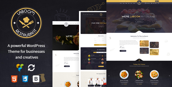 Image of La Boom - Food & Restaurant Bistro WordPress Theme