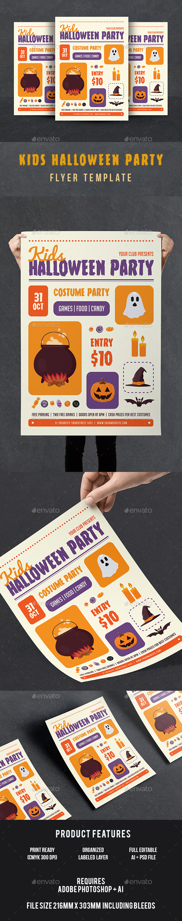 Halloween Kids Flyer - Events Flyers