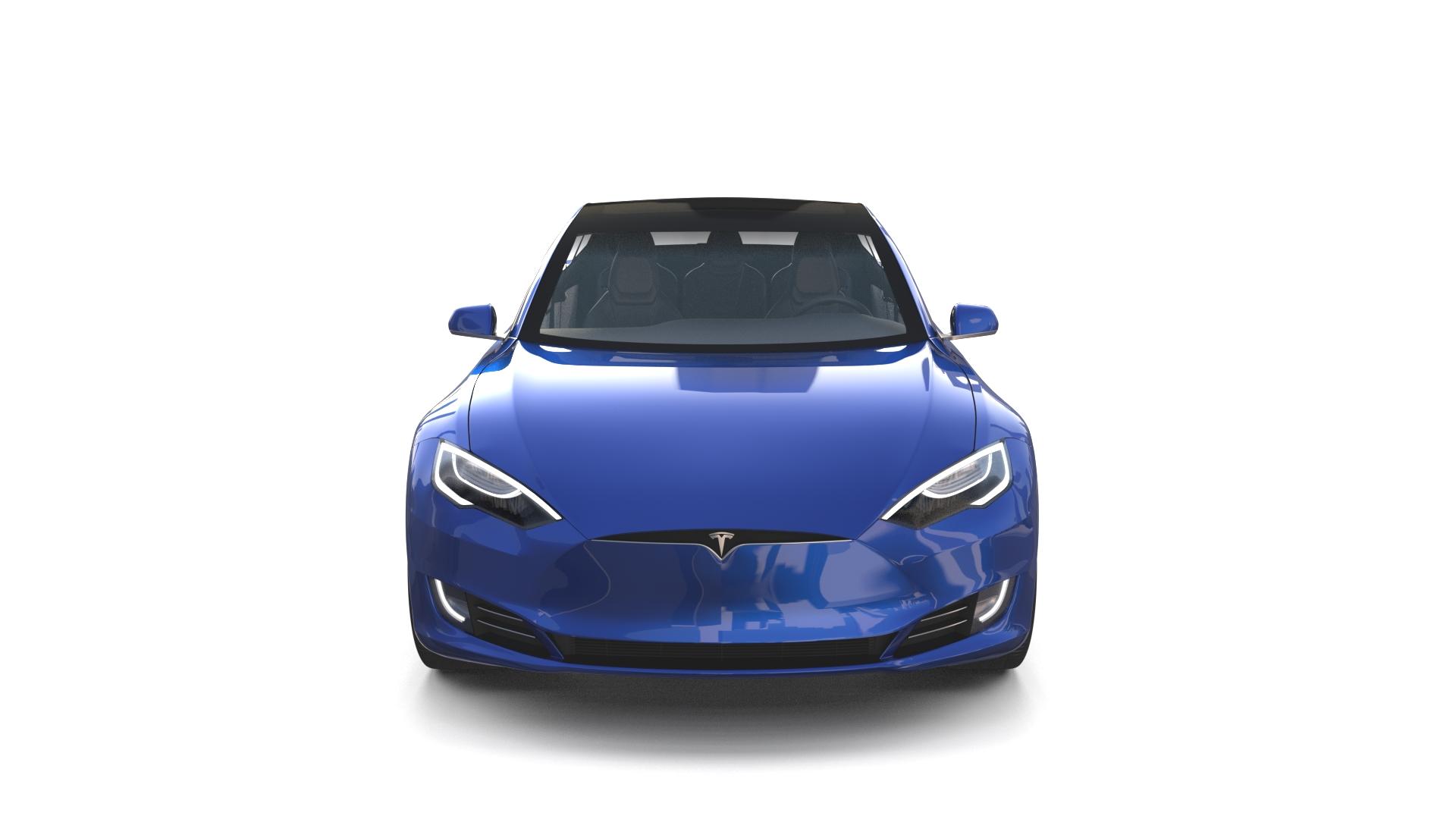 Tesla Model S 2016 Blue with interior