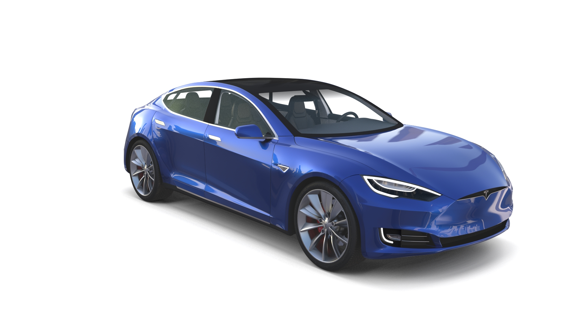 Tesla model s 2016 blue with interior by dragosburian for Interieur tesla