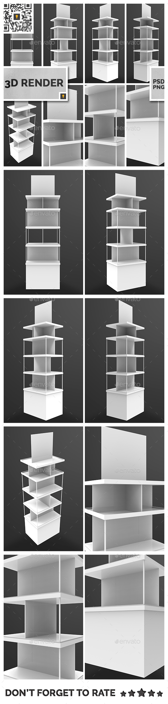 Store Display 3D Render - Objects 3D Renders