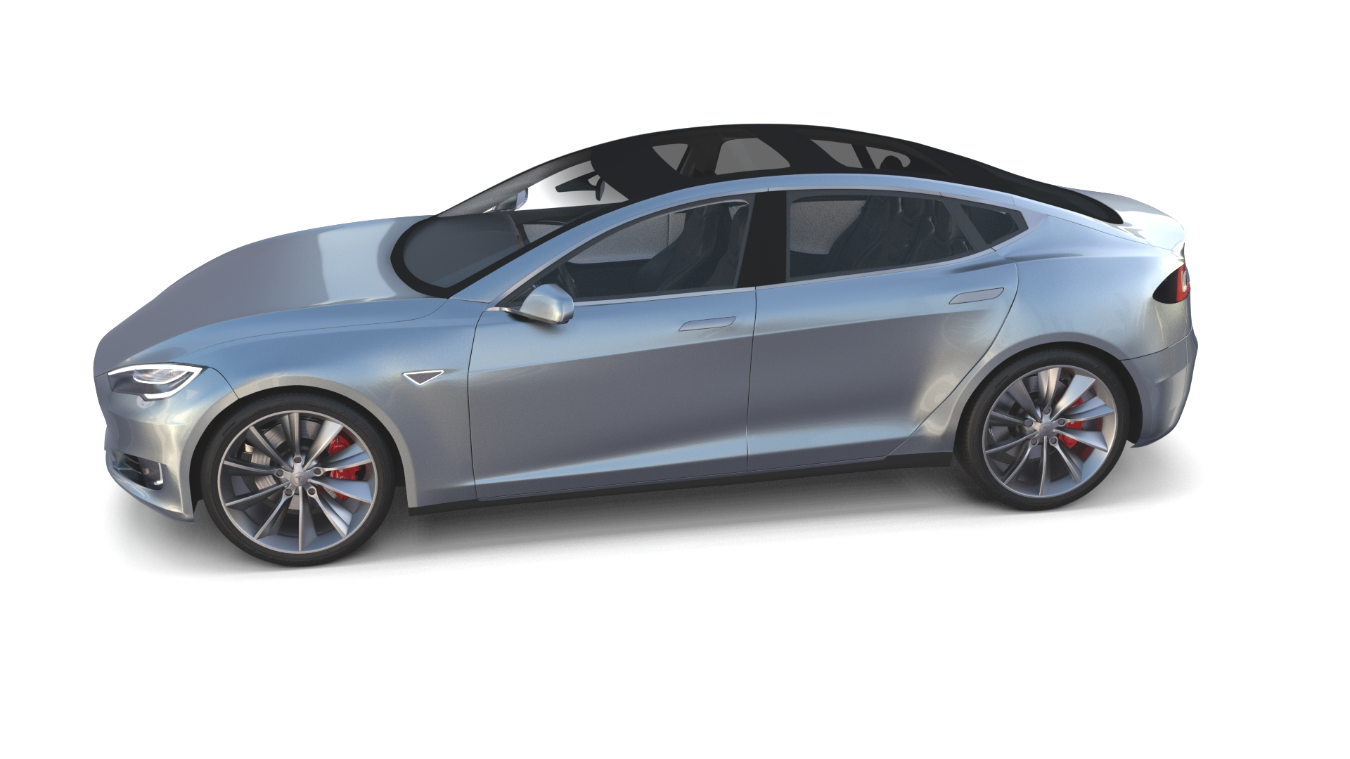Tesla model s 2016 silver with interior by dragosburian for Interieur tesla