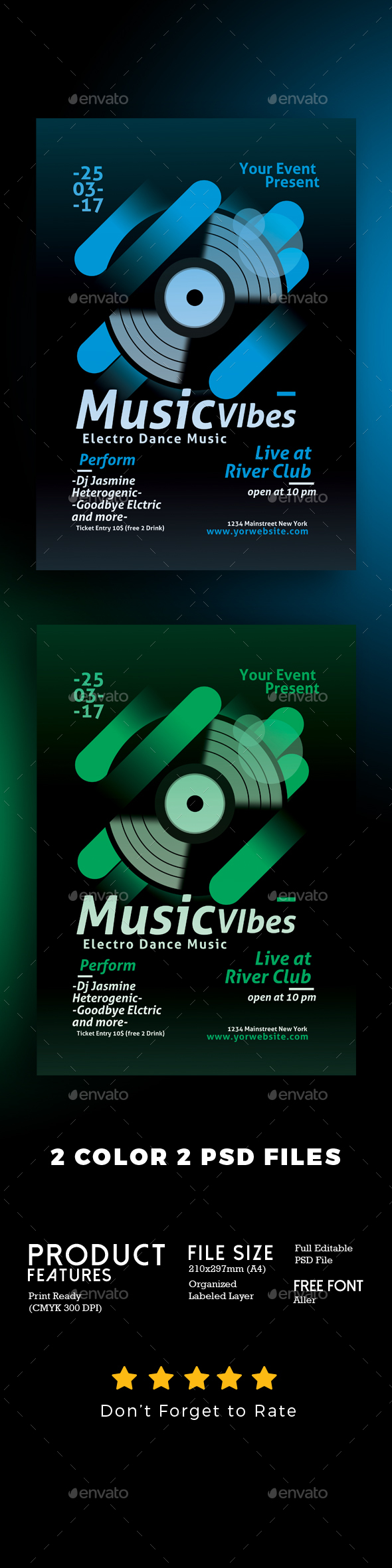 Minimal Electro Music Flyer - Clubs & Parties Events