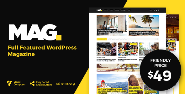 Mag | Full Featured WordPress Magazine - News / Editorial Blog / Magazine