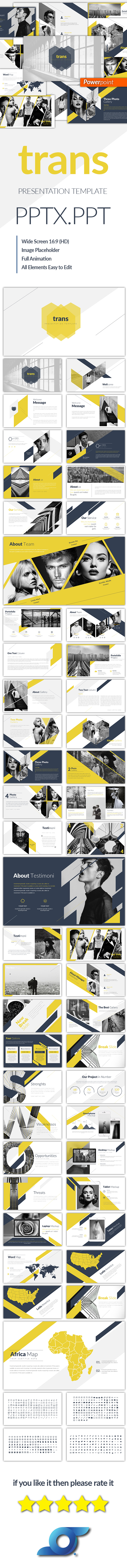 Trans Creative Powerpoint Templates - Abstract PowerPoint Templates
