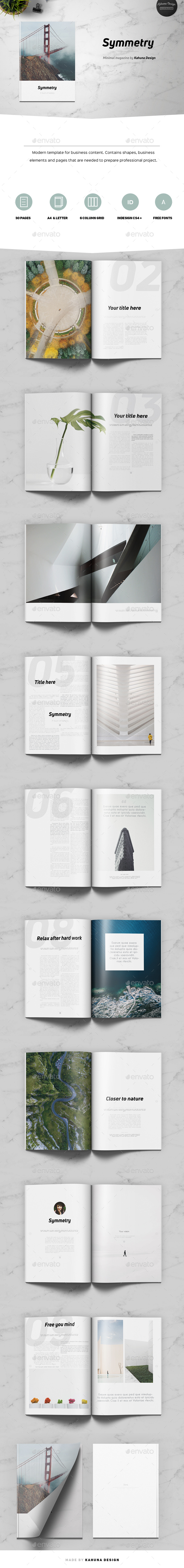 GraphicRiver Symmetry Minimal Magazine 20745719